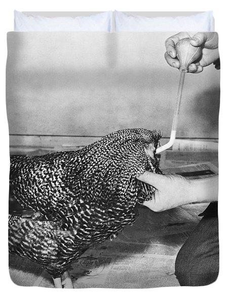 Henry The Headless Rooster Duvet Cover