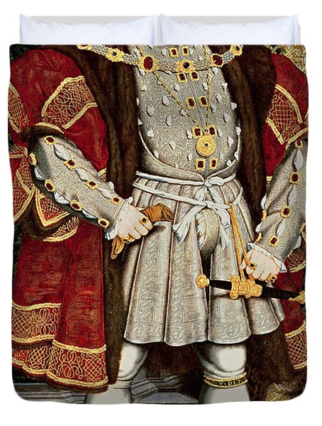 Henry Viii Duvet Cover by Hans Holbein the Younger