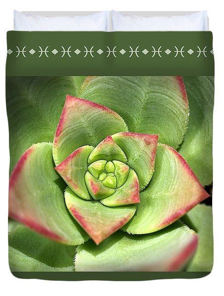 Hens And Chicks Succulent And Design Duvet Cover