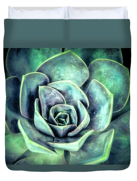 Duvet Cover featuring the photograph Hens And Chicks Two by Julie Palencia