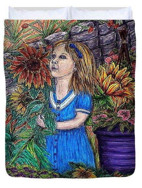 Her First Garden Duvet Cover