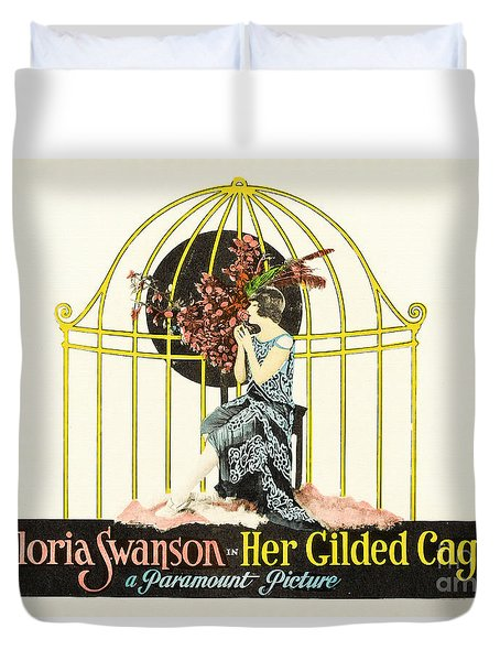 Her Gilded Cage Paramount 1922 Duvet Cover