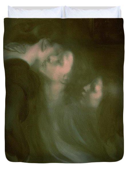 Her Mother's Kiss Duvet Cover