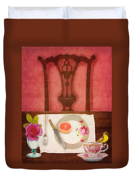 Her Place At The Table Duvet Cover