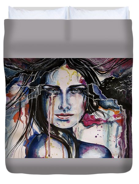 Her Sacrifice Duvet Cover by Geni Gorani