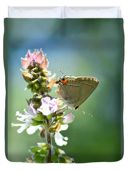 Herb Visitor Duvet Cover by Debbie Green
