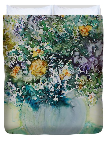 Herbal Bouquet Duvet Cover by Joanne Smoley