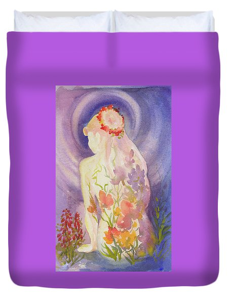 Herbal Goddess  Duvet Cover