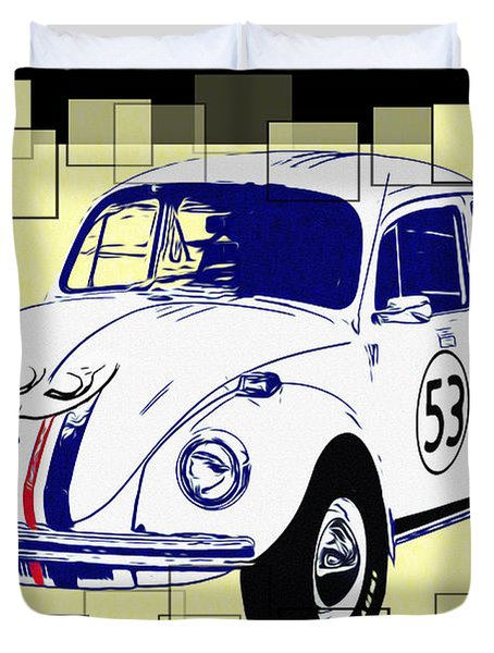 Herbie The Love Bug Duvet Cover by Bill Cannon