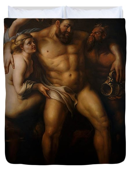 Hercules After Peter Paul Rubens Duvet Cover