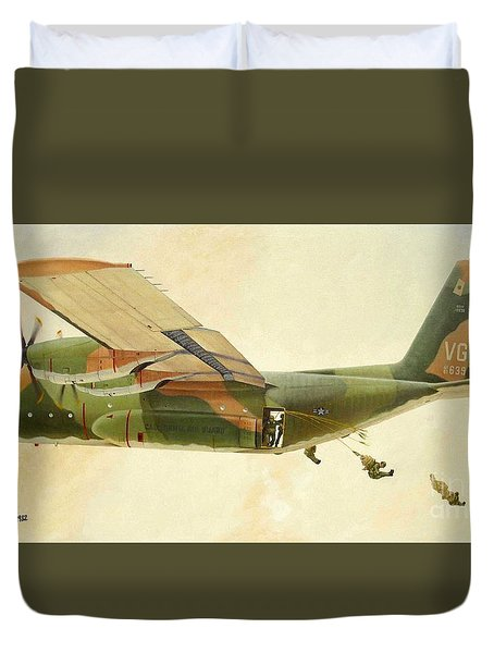 Hercules Paratroop Drop Duvet Cover