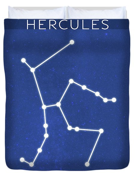 Hercules The Constellations Minimalist Series 23 Duvet Cover