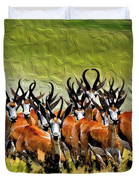 Herd 2 Duvet Cover by Bruce Iorio