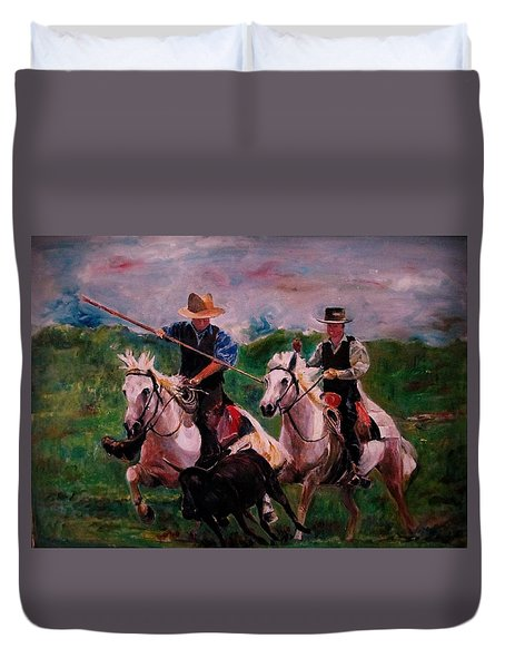 Herdsmen Duvet Cover by Khalid Saeed