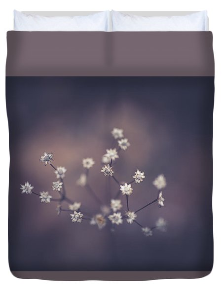 Duvet Cover featuring the photograph Here And There by Shane Holsclaw