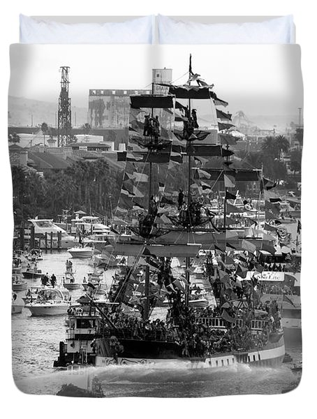 Here Come The Pirates Duvet Cover by David Lee Thompson