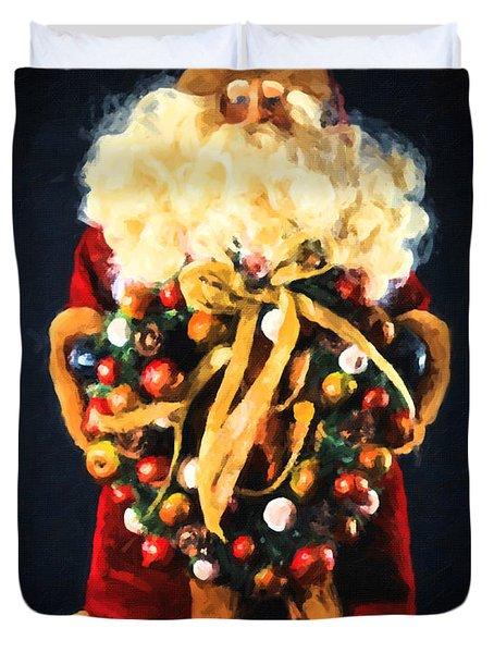 Here Comes Santa Duvet Cover