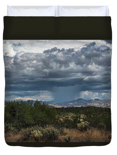 Duvet Cover featuring the photograph Here Comes The Rain Again by Saija Lehtonen