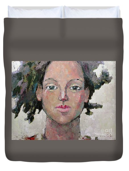 Here I Am Duvet Cover by Becky Kim