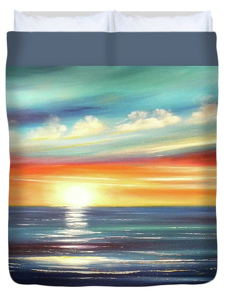 Here It Goes - Panoramic Sunset Duvet Cover