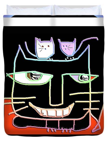 Here,  Kitty Kitty Duvet Cover