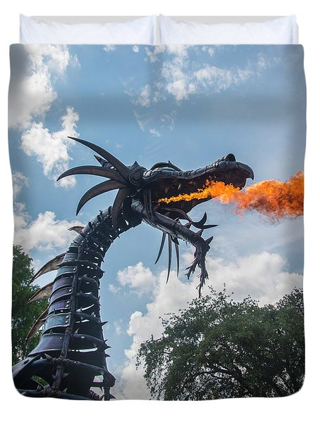 Here There Be Dragons Duvet Cover