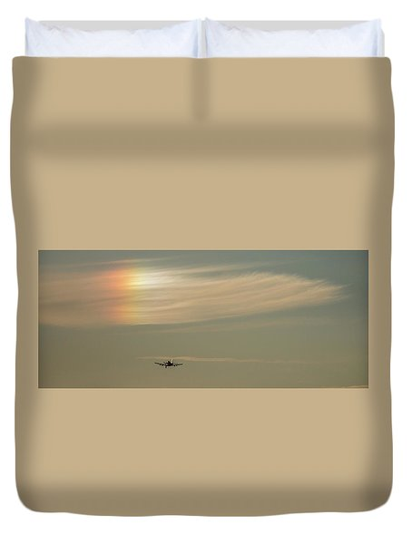 Here We Go Into The Wild Blue Yonder Duvet Cover