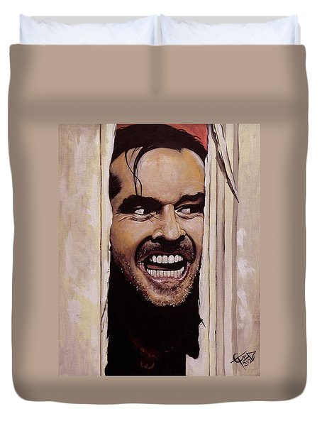 Here's Johnny Duvet Cover