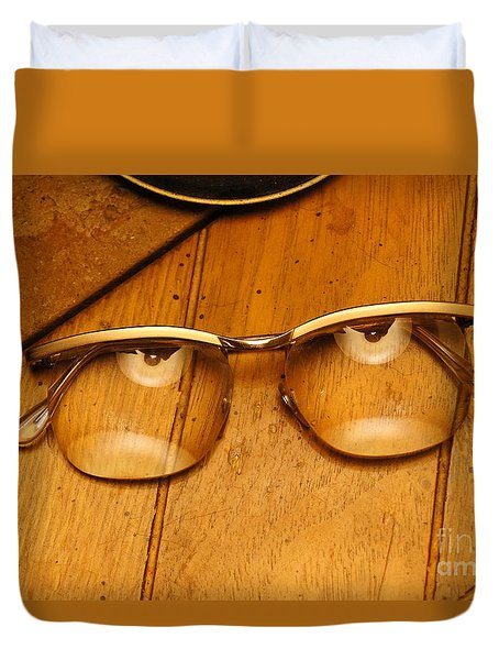 Here's Looking At You Duvet Cover by Paul  Wilford