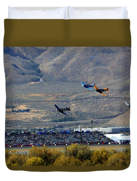 Here's Looking Back At You.  T6 Race. Duvet Cover