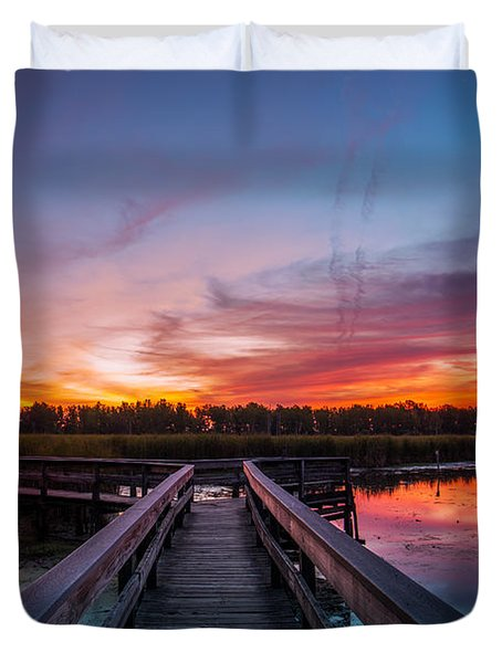 Heritage Boardwalk Twilight Duvet Cover