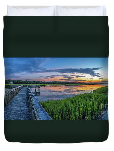 Heritage Shores Nature Preserve Sunrise Duvet Cover