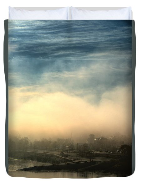 Duvet Cover featuring the photograph Hermann On The Missouri Iv by William Fields