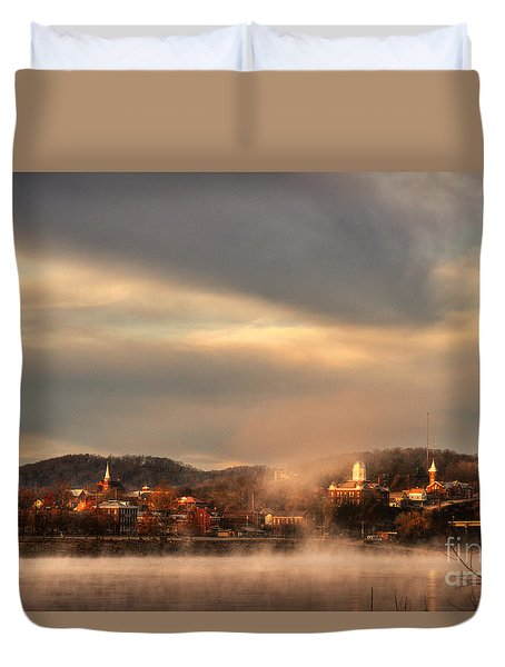 Hermann Rising From The Mists Duvet Cover