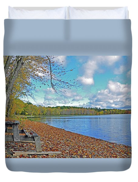 Fall Picnic In Maine Duvet Cover