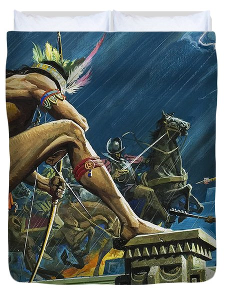 Hernando Cortes Duvet Cover