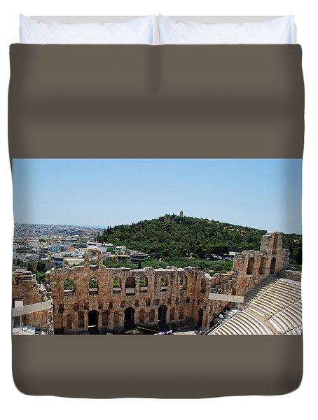 Herodeons Amphitheatre Duvet Cover