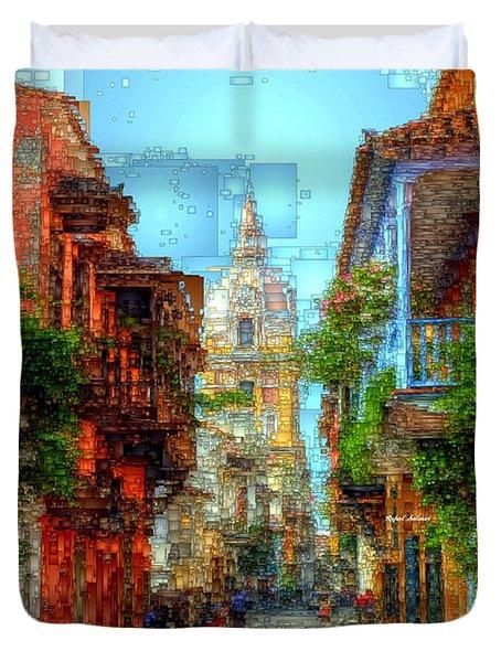 Heroic City, Cartagena De Indias Colombia Duvet Cover