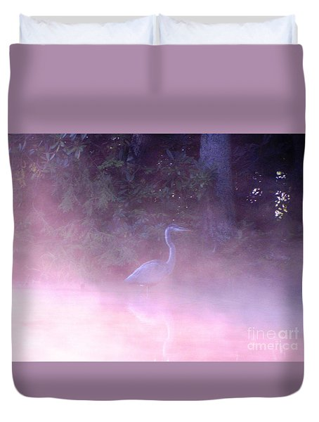 Duvet Cover featuring the photograph Heron Collection 3 by Melissa Stoudt