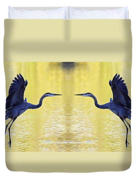 Heron Dance Duvet Cover