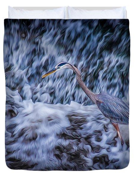 Heron Falls Duvet Cover