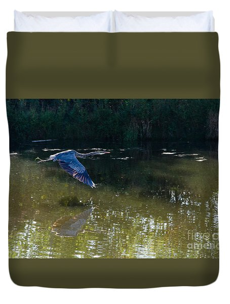 Heron Flight Duvet Cover