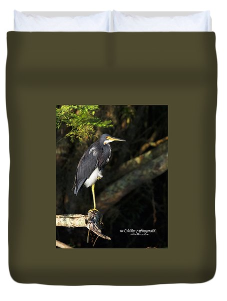 Heron In The Light Duvet Cover