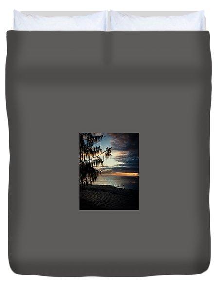 Heron Island Sunset  Duvet Cover