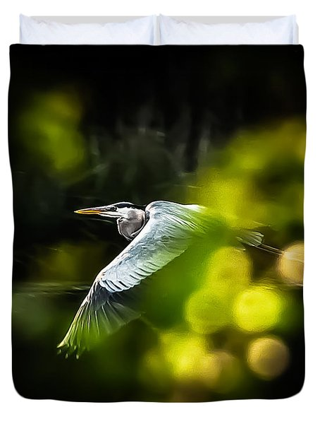 Heron Launch Duvet Cover