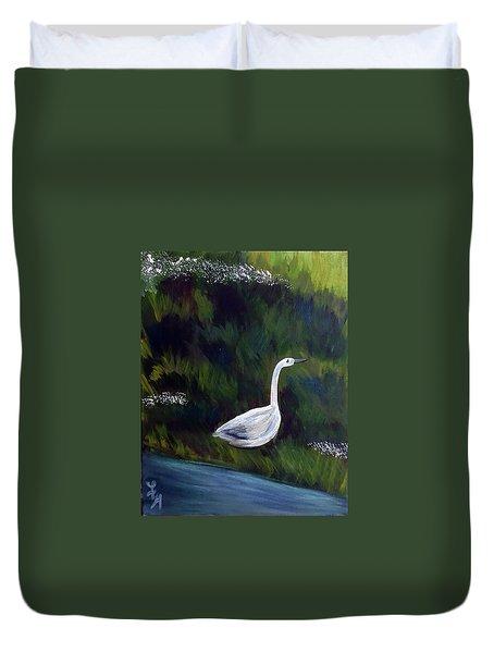 Heron Duvet Cover by Loretta Nash