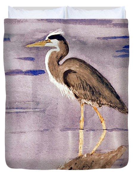 Heron No. 2 Duvet Cover