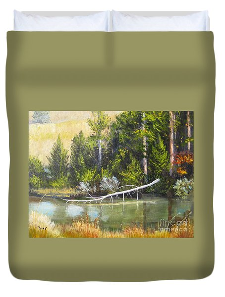 Heron Perch Duvet Cover