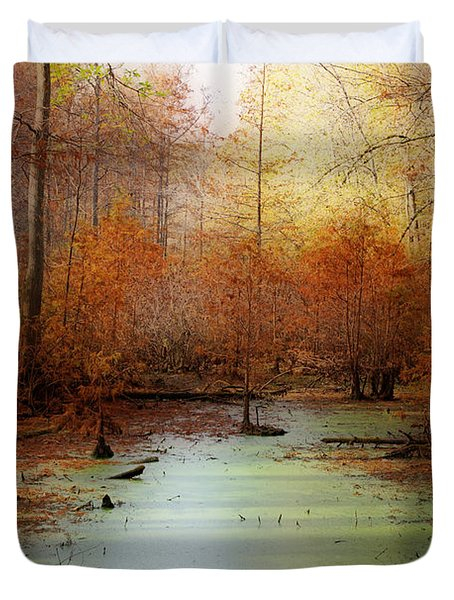 Heron Pond - Autumn Duvet Cover