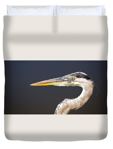 Heron Profile Duvet Cover